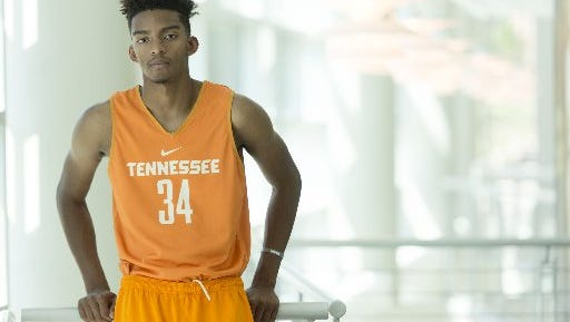 Tennessee freshman Jalen Johnson says dunking is his specialty.