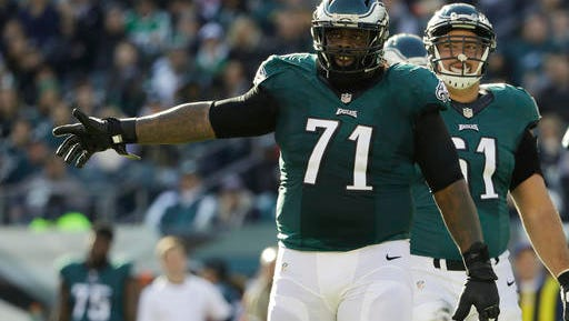 Eagles left tackle Jason Peters has been selected eight times to the Pro Bowl in his NFL career.