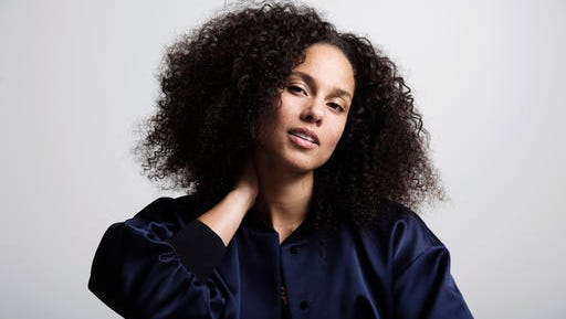 "In this Nov. 2, 2016 photo, Alicia Keys poses for a portrait in New York, to promote her sixth album, ""Here."""