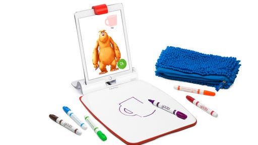 This photo provided by Osmo shows an Osmo Creative Set. Toys that teach aren't a new thing, but a growing number are calling for kids to build with blocks, circuits or everyday items before reaching for a tablet screen.