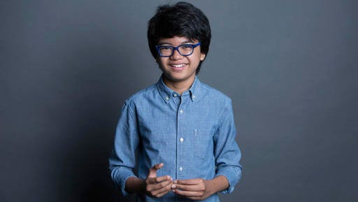 "FILE - In this Sept. 26, 2016 file photo, Joey Alexander poses for a portrait in New York. Alexander is nominated for a Grammy Award for best improvised jazz solo with ""Countdown"" at the Feb. 12 show, airing live on CBS from the Staples Center in Los Angeles."