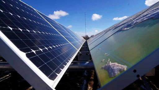 Vectren wants a rate increase pay for installing solar panels, similar to these at a Minnesota facility, and generate 50 megawatts of power. But Indiana's Office of Utility Consumer Counselor says regulators should not approve it.