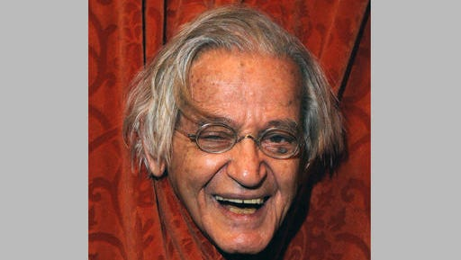 "FILE - This April 24, 2004 file photo shows comedian Irwin Corey at the Ethel Barrymore Theatre in New York. Corey, the wild-haired comedian and actor who was known for his nonsensical style and who billed himself as ""The World's Foremost Authority,"" died Monday, Feb. 6, 2017, at his home in Manhattan. He was 102."