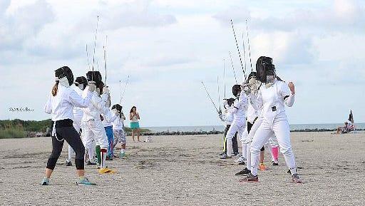 Treasure Coast Fencing Club offers classes.