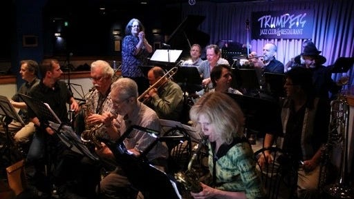 Diane Moser's Composers Big Band will celebrate 20 years of making music with performances Wednesday at Trumpets Jazz Club in Montclair.