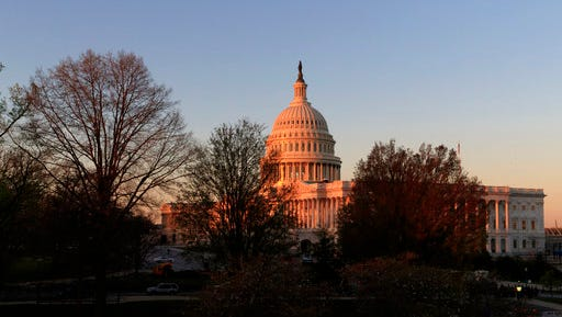 The Capitol is seen at sunrise in Washington, Wednesday, April 5, 2017. The Trump administration and Republican lawmakers plan to continue their uphill effort to exhume the House GOP's health care bill, but remain adrift and divided over how to reshape it to attract enough votes to muscle it through the chamber.