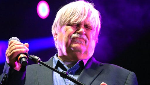 """Col. Bruce Hampton performs at """"Hampton 70,"""" his all-star jam celebration of his 70th birthday Monday, May 1, 2017, at the Fox Theatre in Atlanta.  Hampton, a musician, died after collapsing on stage at the end of the the star-studded birthday concert in his honor, authorities said."""