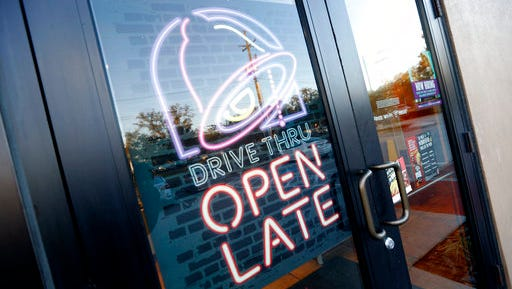 This Thursday, Dec. 15, 2016, photo shows a Taco Bell restaurant in Metairie, La. Yum Brands Inc. reports earnings, Wednesday, May 3, 2017.