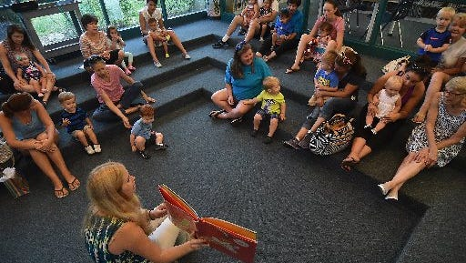 Storytime at many of the St. Lucie libraries.