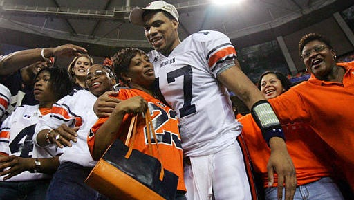 Jason Campbell was named offensive MVP of the 2004 SEC title game after throwing for 374 yards and three touchdowns in a 38-28 win over Tennessee.
