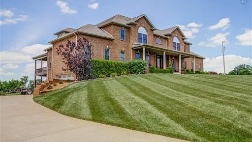 This home at 1600 Harvill Road sold for $870,000 in 2017, distinguishing it as the year's priciest home sale on the Clarksville market.
