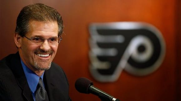 Ron Hextall has maintained he'll be patient in his first year as general manager.