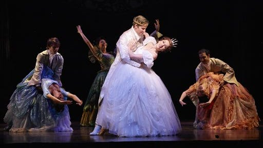 """This image released by Allied Live shows Paige Faure as Cinderella in """"Rodgers + Hammerstein's Cinderella,""""on tour. The tour is now in Florida and plans stops in North Carolina, Pennsylvania, New York, Illinois, Ohio, Missouri, Colorado, Oregon, Washington, California, Arizona, Nevada, Texas, Iowa and South Carolina."""