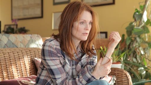 """In this image released by Sony Pictures Classics, Julianne Moore appears in a scene from the film, """"Still Alice."""" (AP Photo/Sony Pictures Classics, Linda Kallerus)"""