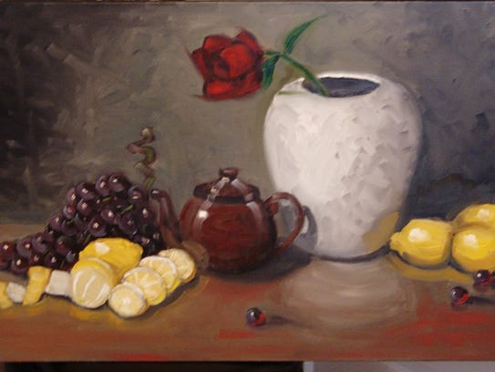 Lemon still life by Stephen McDonough