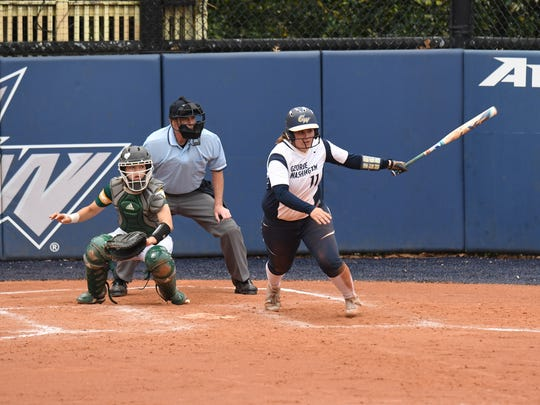 Binghamton High graduate Elena Shelepak had four homers and 37 RBI for George Washington's softball team.