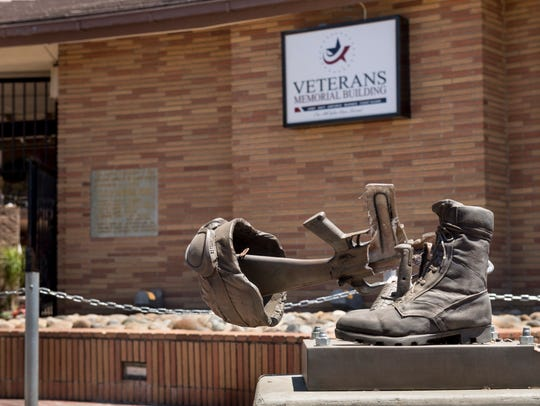 A vandal broke the Fallen Soldier Battle Cross sculpture