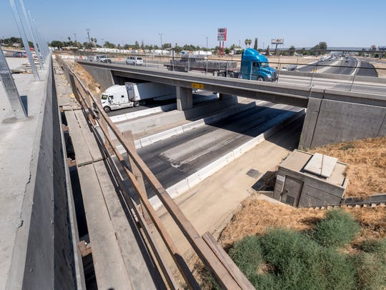 Construction continues on the Betty Drive overpass