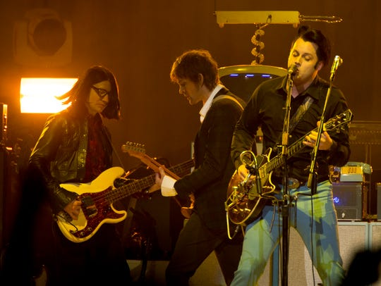 The Raconteurs made a surprise appearance at Jack White's