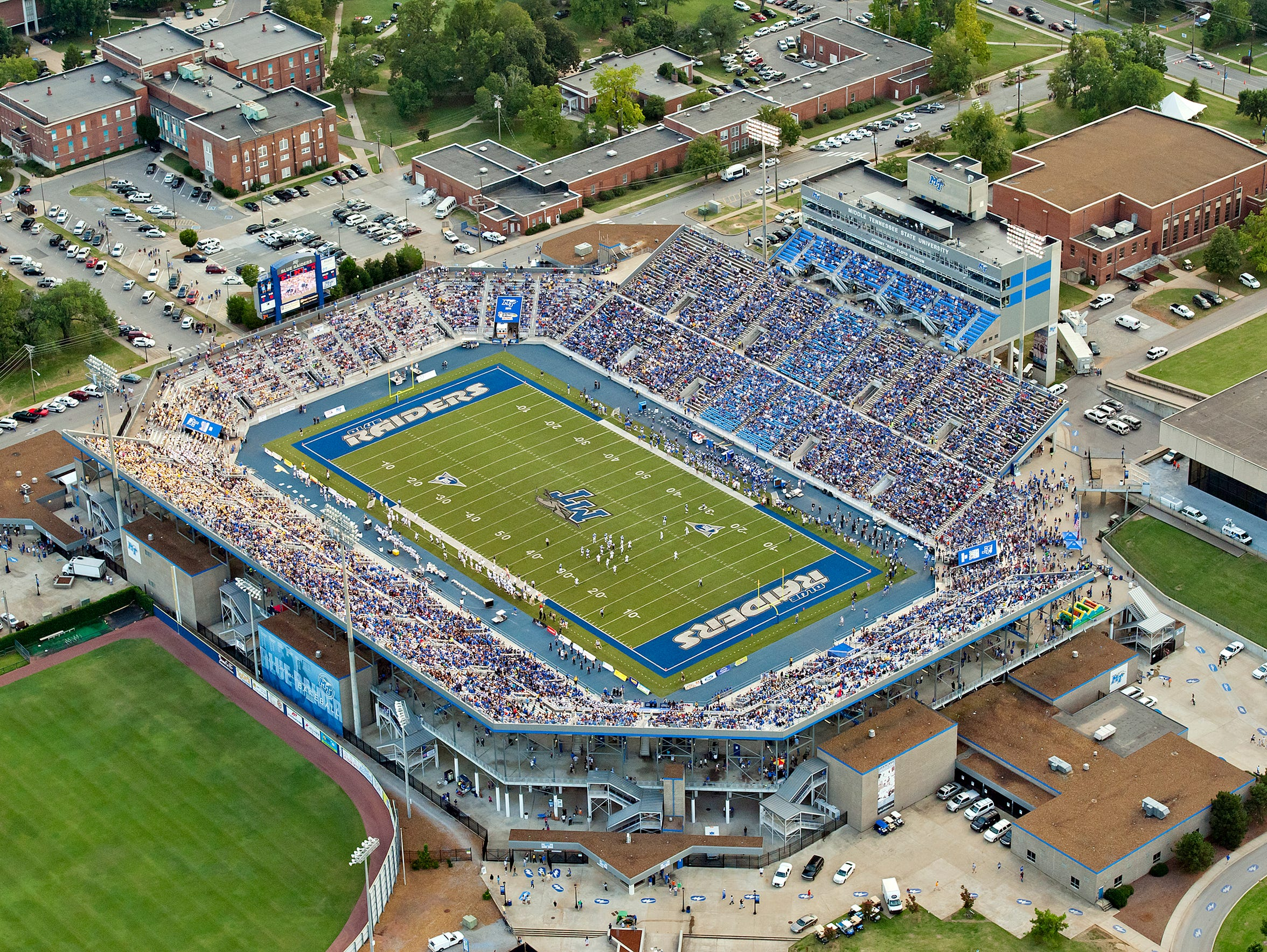 """Johnny """"Red"""" Floyd Stadium is named after MTSU's first"""