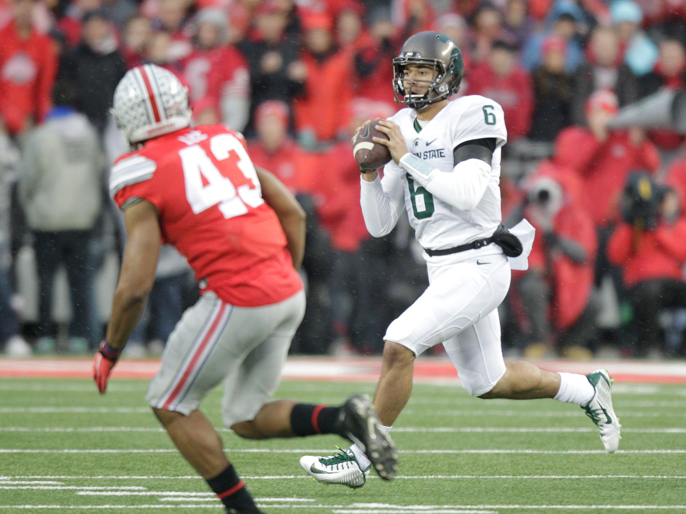 Did Michigan State backup quarterback Damion Terry put his team in the College Football Playoff with a win against Ohio State on Saturday?