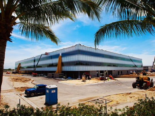 KINFAY MOROTI/ THE NEWS-PRESS..  Construction underway (5/4/15) on the worldwide headquarters for Hertz in Estero.