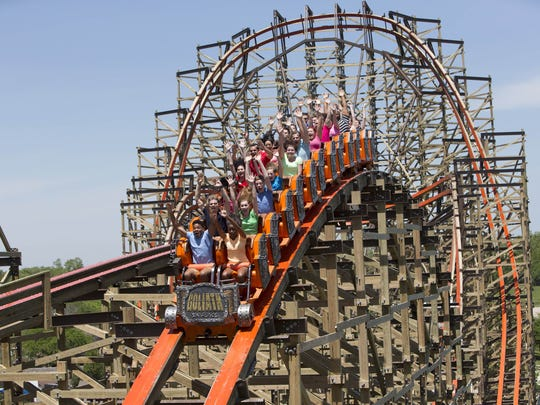 The Goliath, at Six Flags Great America in Illinois.