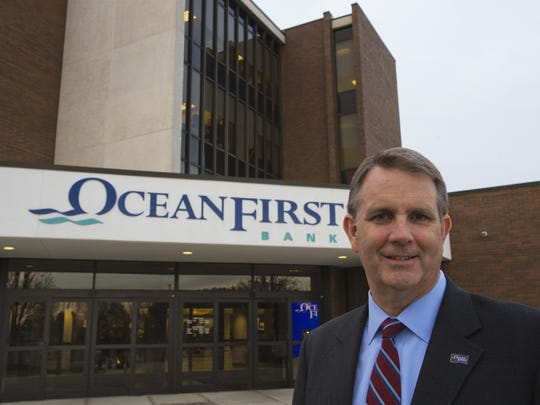 OceanFirst Financial Corp. CEO Christopher Maher outside the bank's Toms River headquarters.