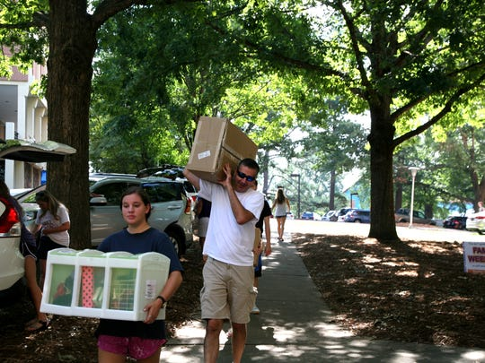 Students moved into their dorms at Clemson University
