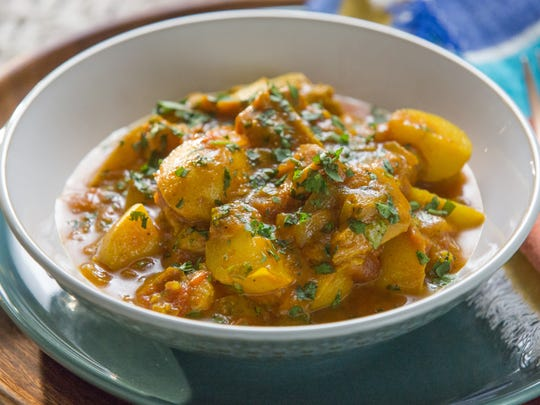 """Chicken Curry with Potatoes is a healthy dish from """"Tia Mowry at Home."""""""