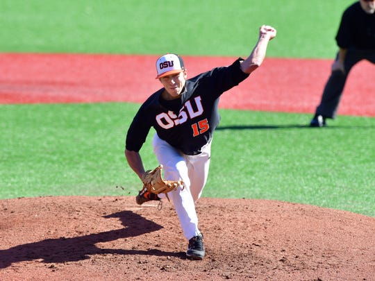 Luke Heimlich is 4-0 with a 0.42 earned run average and has 52 strikeouts in 43 innings.