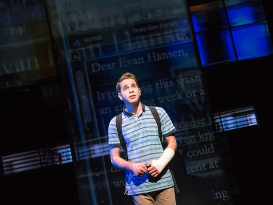 Ben Platt in 'Dear Evan Hansen' on Broadway.
