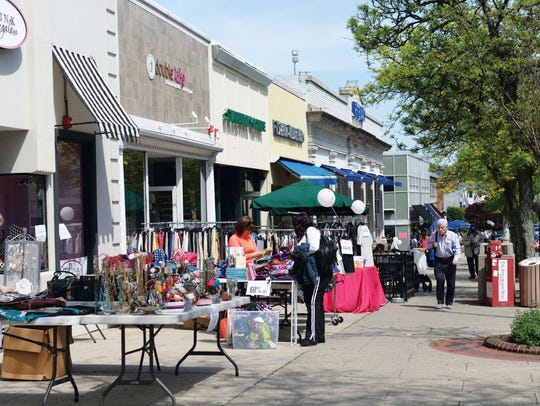 Ridgewood Chamber of Commerce Sidewalk Sale.