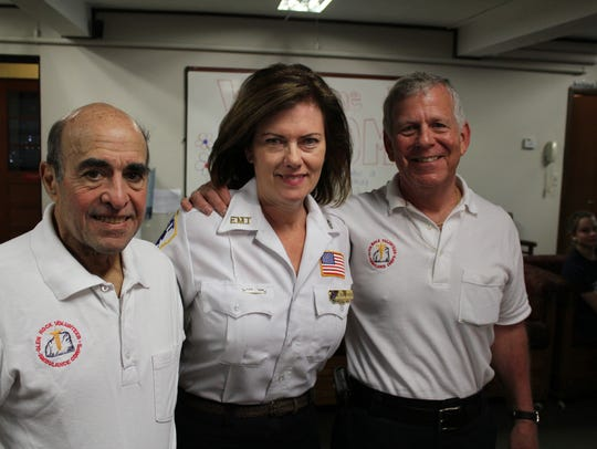 Dave Behar, left, with Mary Jane Surrago and Sal Danna.