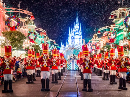 mickeys once upon a christmastime parade the magic kingdom