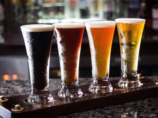 Guests can enjoy an Irish Craft Beer flight during the Mighty St. Patrick's Festival March 11-17 at Raglan Road Irish Pub & Restaurant.