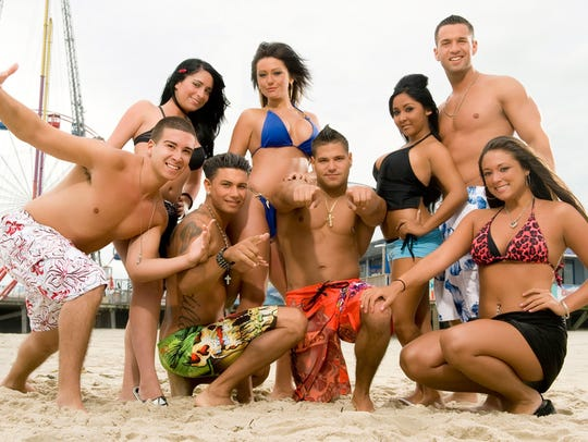 This file photo released by MTV, shows the cast of