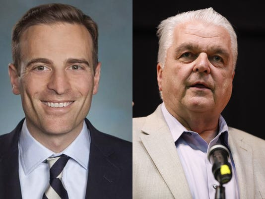 Adam Laxalt and Steve Sisolak