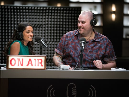 Contestants Palak Patel and Christian Petroni during