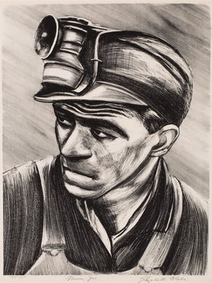 "Elisabeth Olds' lithograph ""Miner Joe"" (circa 1935) is part of ""WPA Art from RAM's Collection"" at the Racine Art Museum."