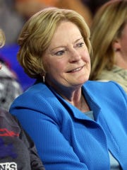Former Lady Vols coach Pat Summitt was in the stands