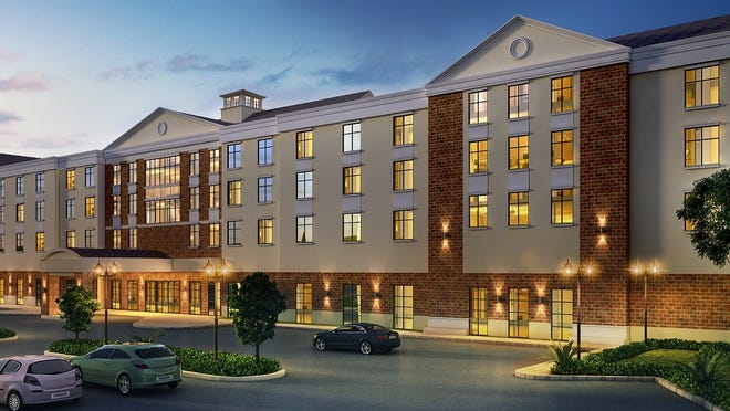 A rendering of the proposed hotel facility at Crossroads 312, a controversial development in Southeast that is now under consideration.