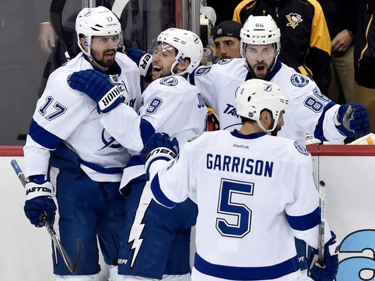 NHL: Stanley Cup Playoffs-Tampa Bay Lightning at Pittsburgh Penguins