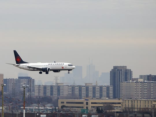 TORONTO, ON - MARCH 13: An Air Canada Boeing 737 MAX