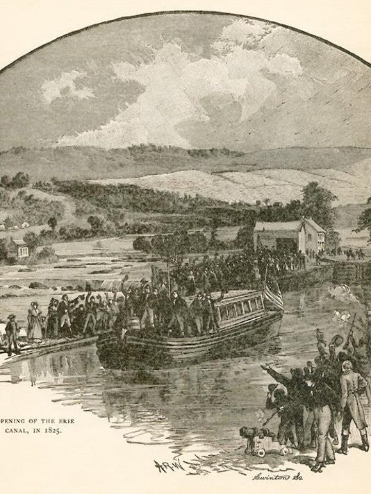 Opening of the Erie Canal, in 1825