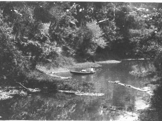 A 1925 photo of Vermilion Bayou north of Pinhook Bridge