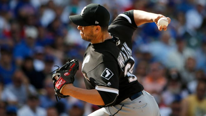 White Sox reliever Anthony Swarzak went 4-3 with a 2.23 ERA in 41 appearances this season.