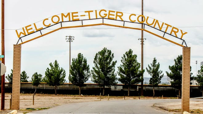 The southern entrance to Tiger Drive located on the north side of First Street between Alaska and Cuba Avenue will be torn down Thursday morning and a new arch will be in its place sometime by the end of the year.