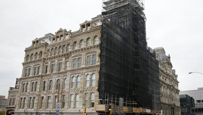 The historic Mackie Building, home of the Grain Exchange Room, is undergoing a redevelopment which includes adding apartments.