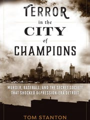 "The jacket cover of ""Terror in the City of Champions."""